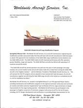 SAAB 340 B Model Aircraft Cargo Modification Program